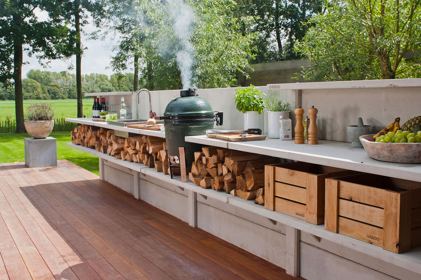 15 best outdoor kitchen ideas and designs - pictures of beautiful outdoor  kitchens WFEOJWL