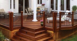 20 beautiful wooden deck ideas for your home QZGYGAF