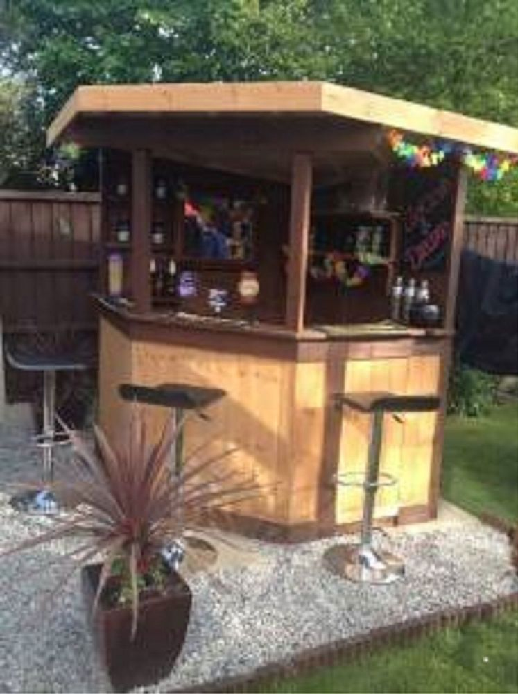 5ft deluxe corner garden bar pub entertaining area outdoor bar man cave OCZYBUM