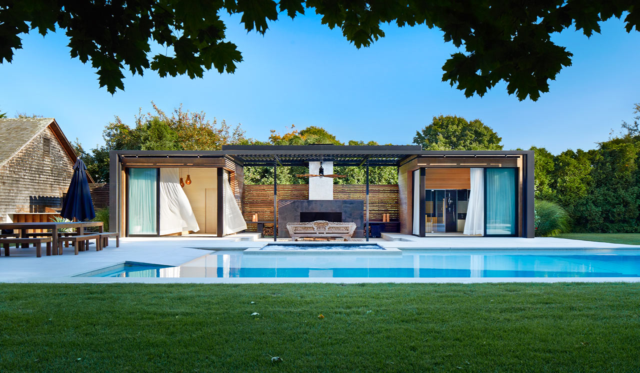 a modern pool house retreat from icrave ... LMJQKCM