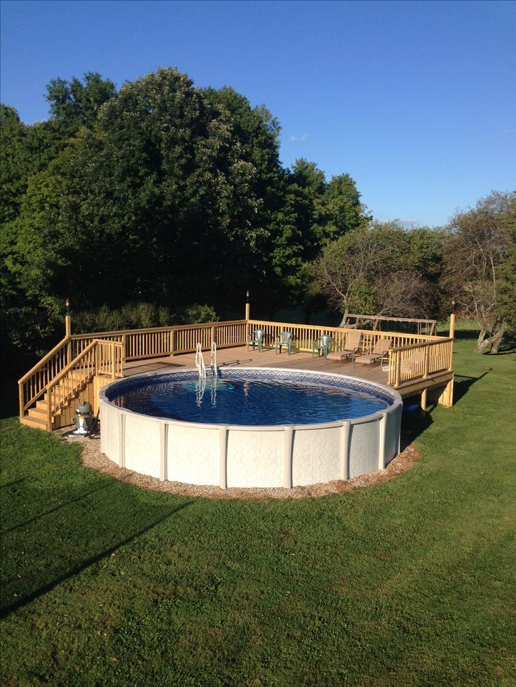 The importance of above ground pool decks for Deck from house to above ground pool