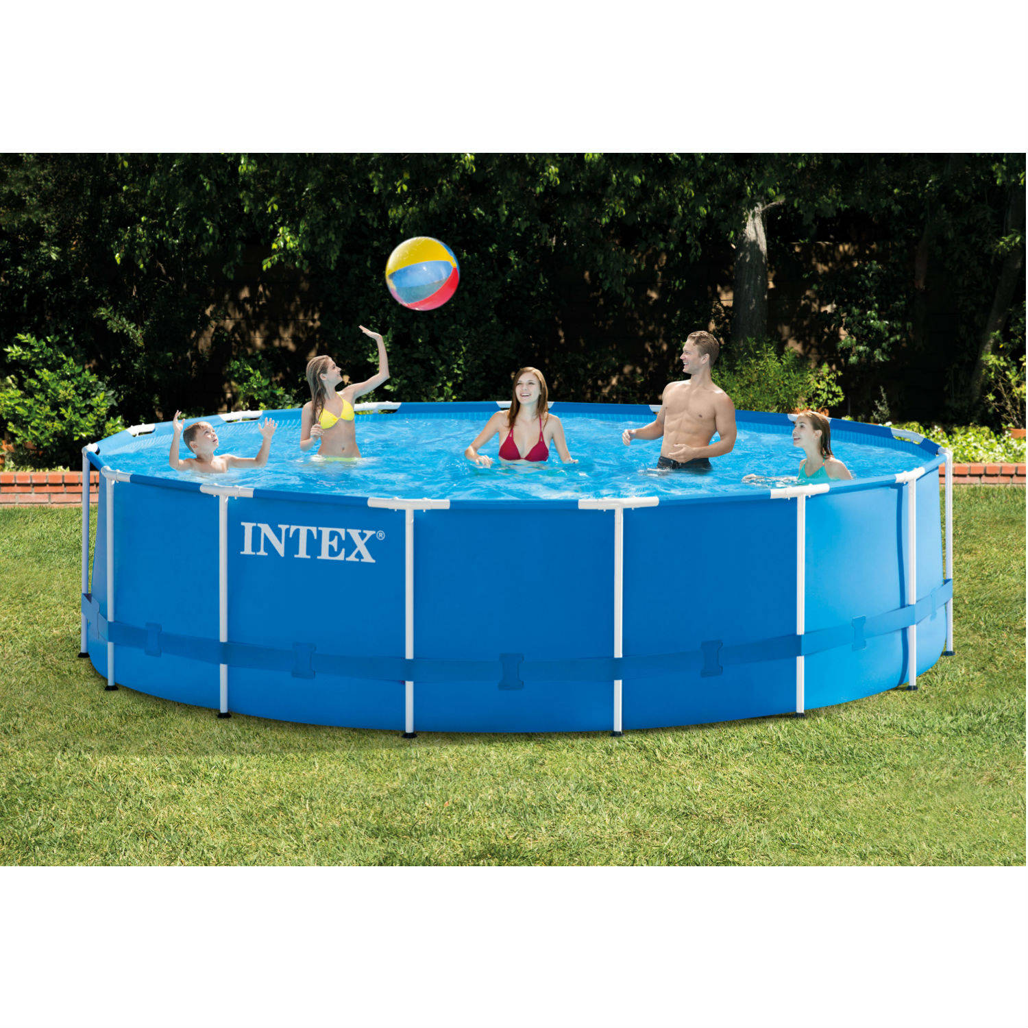 above ground pool intex 15u0027 x 48 BEEGJMN