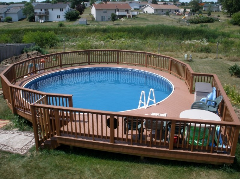 above ground pool with deck beautiful round above ground pool decks designs SQZGDRD