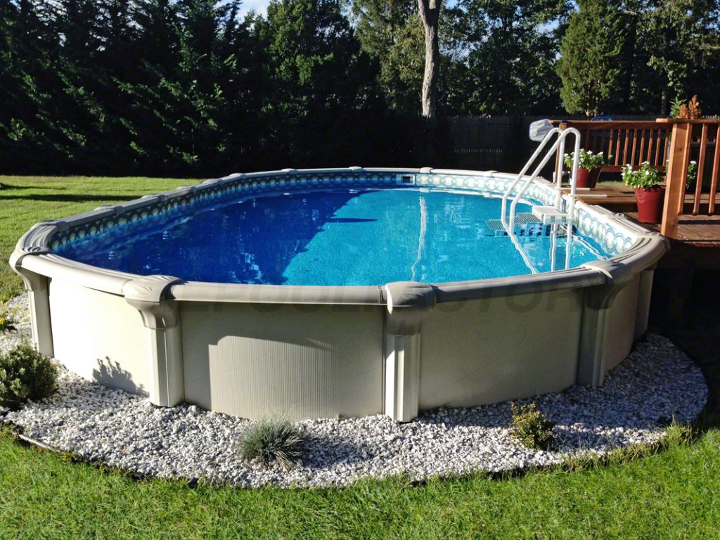 above ground pools customer spotlight: thomas t. #10. signature rtl above ground pool MUGSGEV