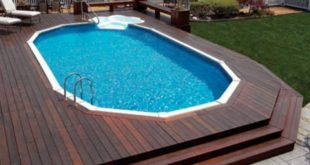 above ground pools with decks large above ground pool deck with cascading steps LFPEQBM