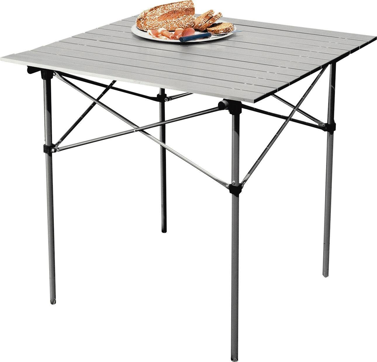 aluminium folding camping table with