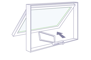 awning window - wood, vinyl, fiberglass u0026 aluminum series | milgard windows  u0026 doors FSYIQKA