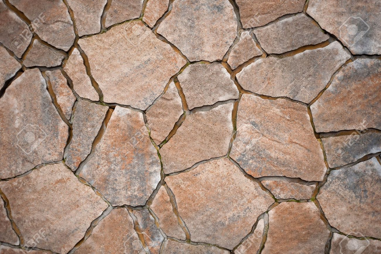 background from paving stones, irregular natural stones stock photo -  6071947 GJRTDJE