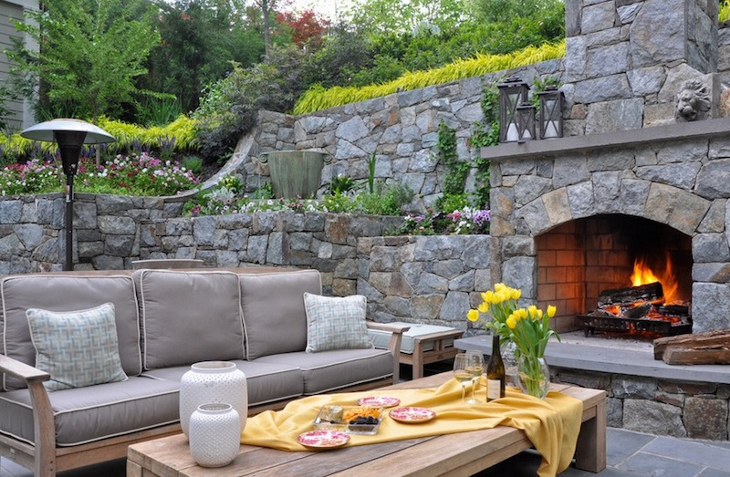 backyard ideas gray seating set SBNUZLO