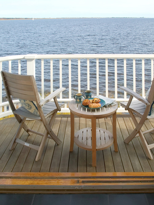 balcony furniture small elegant balcony photo in boston with a roof extension PASBDHV