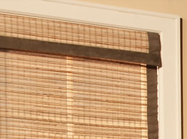 bamboo blinds bamboo edge binding KQSKCUO