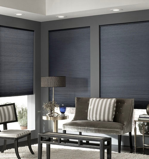 blindsgalore® cordless double cellular shades shown in silver IQFGZHJ