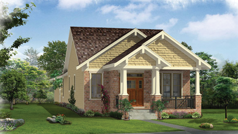 bungalow designs 2 bedroom craftsman bungalow home plan homepw76613 YSGULOU