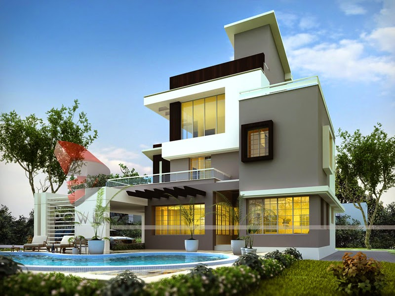 bungalow designs ultra modern home designs: house 3d interior exterior design rendering XVVMKMJ