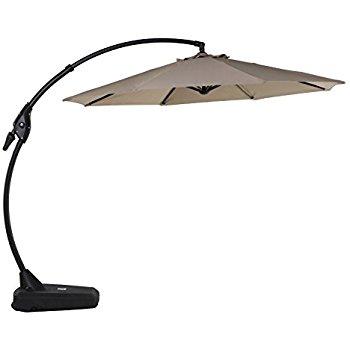 cantilever umbrella grand patio deluxe 10 ft curvy aluminum offset umbrella with handle and  crank, banana YQSLYRW