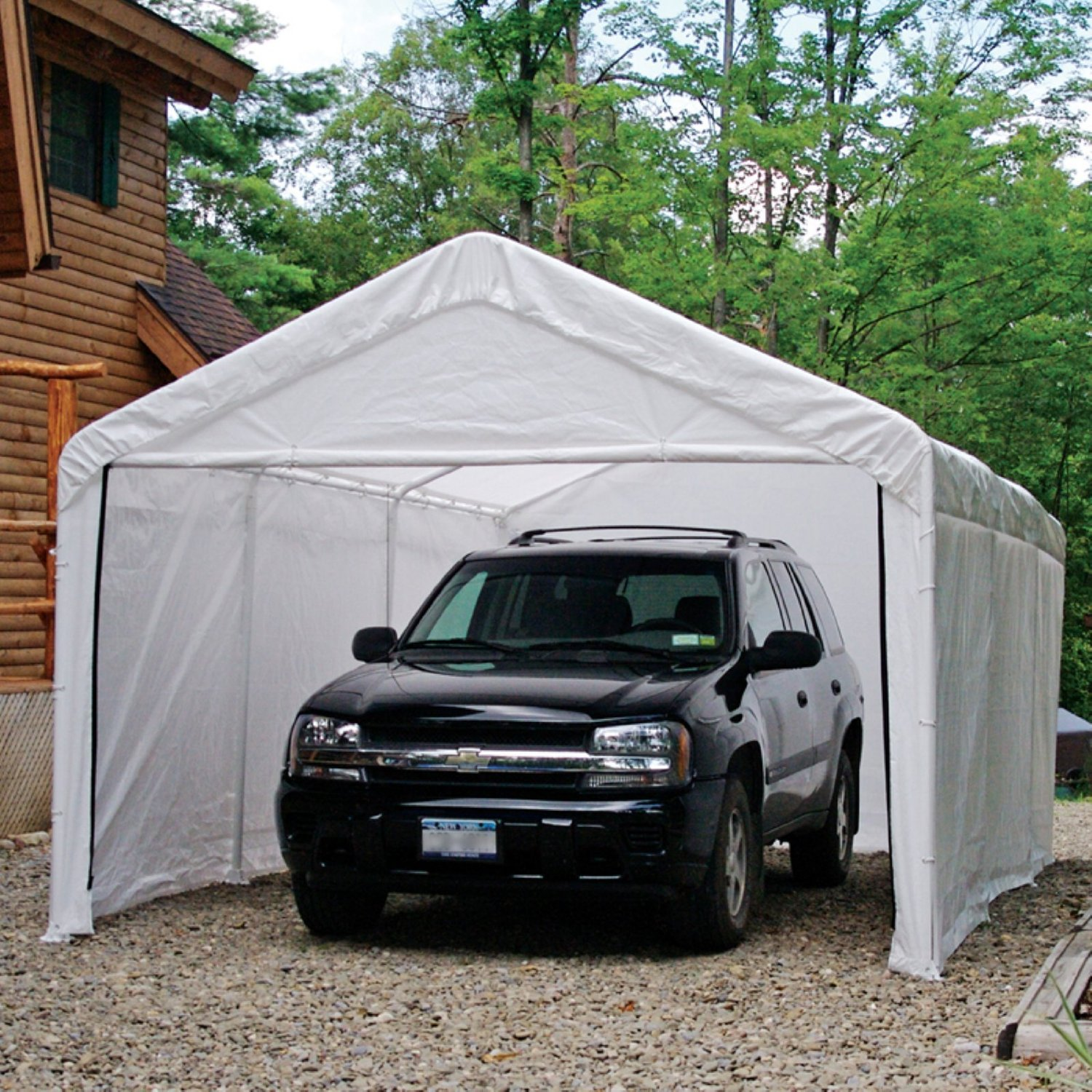 car canopy enclosure kit - white, canopy not included CYACAUJ