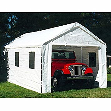 Car Canopy King White 10 X 20 Foot Universal Enclosed Event Storage Tent OQIBPDV