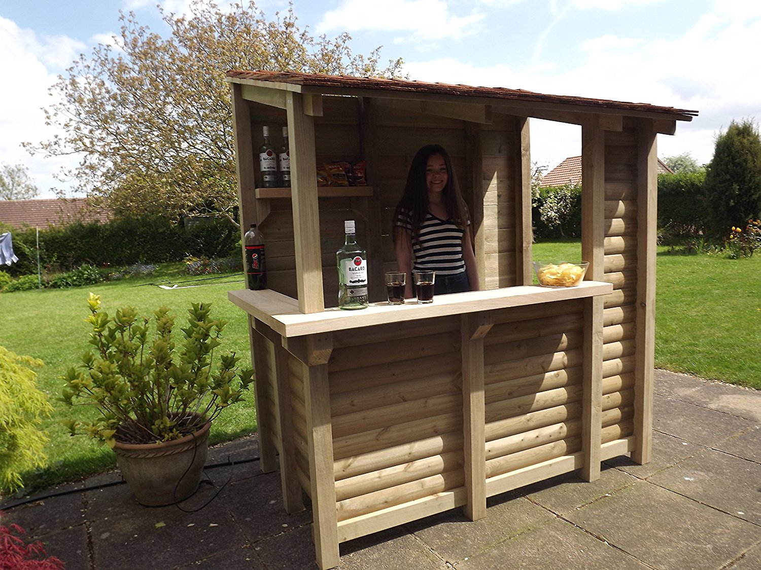 cedar garden bar - hand crafted by tanglewood cedar ( mojito bar ):  amazon.co.uk: garden u0026 VPMTYRM