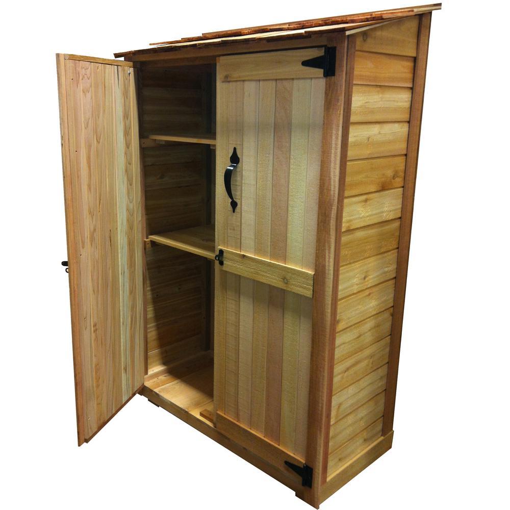 cedar garden storage shed QPAQOVI