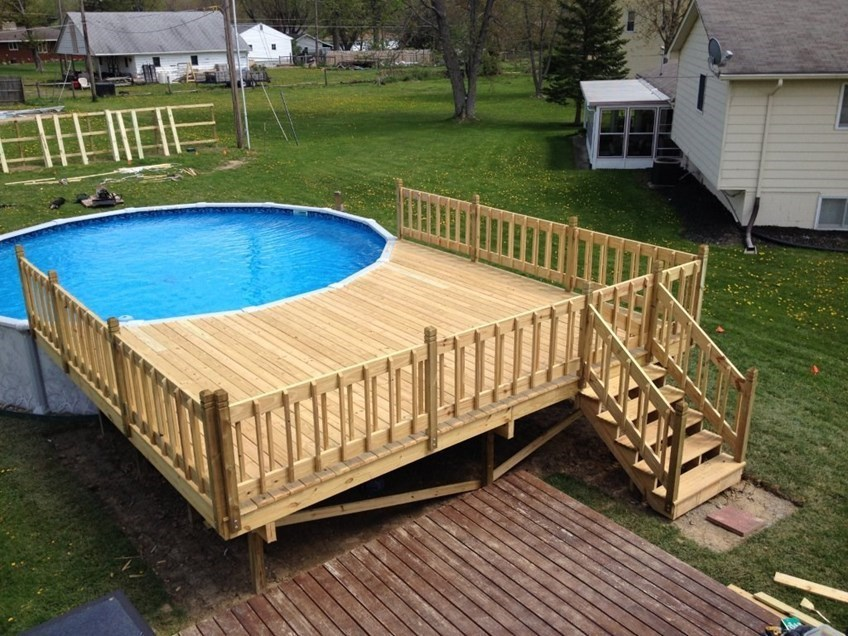 circular pool deck. most above ground pool decks wrap around ... GQDPIBD