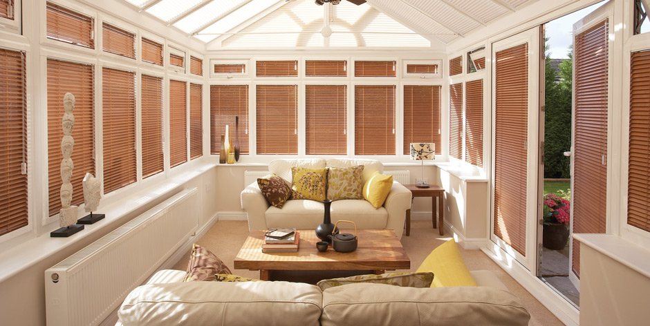 conservatory blinds provide you security for privacy reasons. you can  choose for various blinds YEYYTHB