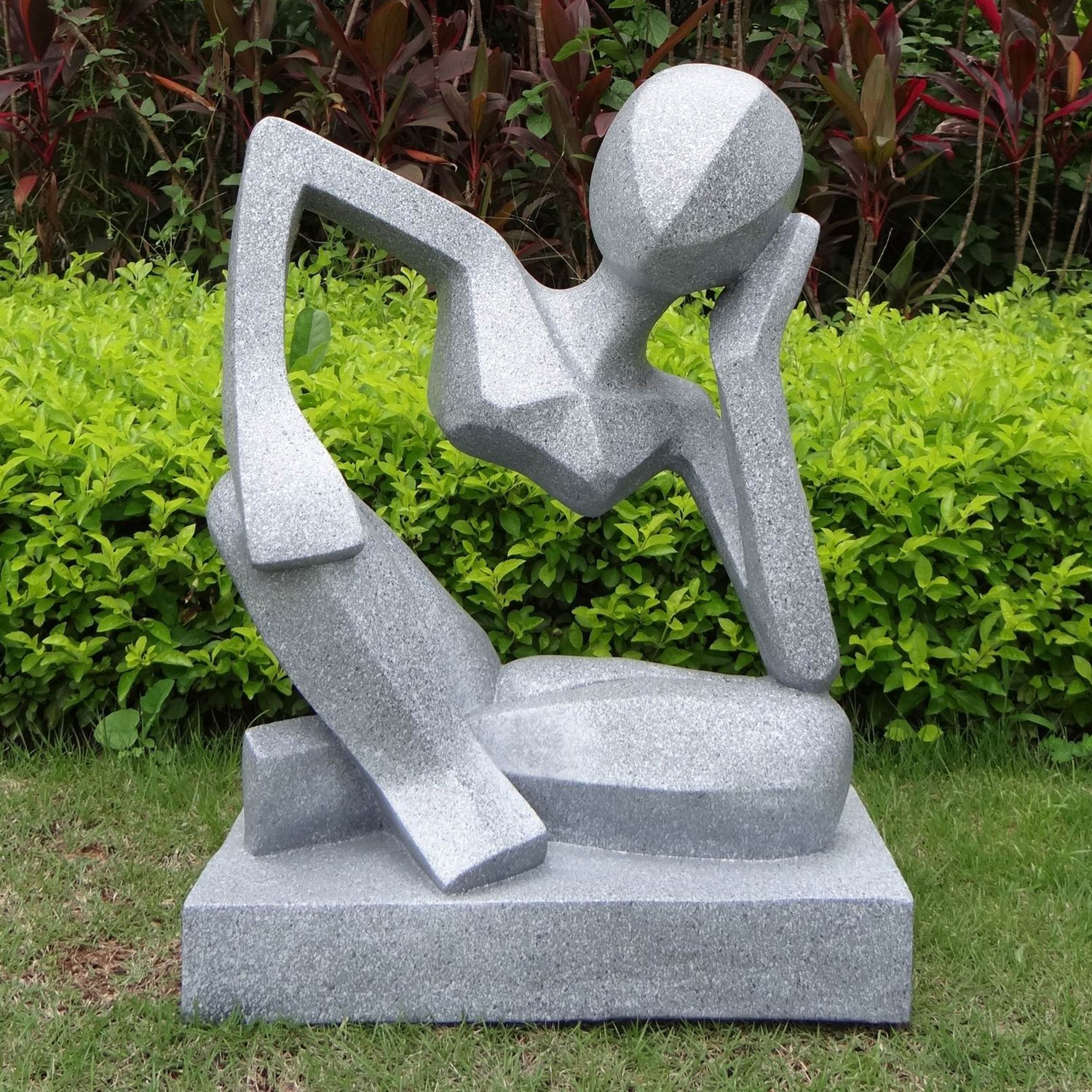 contemporary garden art: large garden sculptures reflection modern  contemporary statue JIAZOMW
