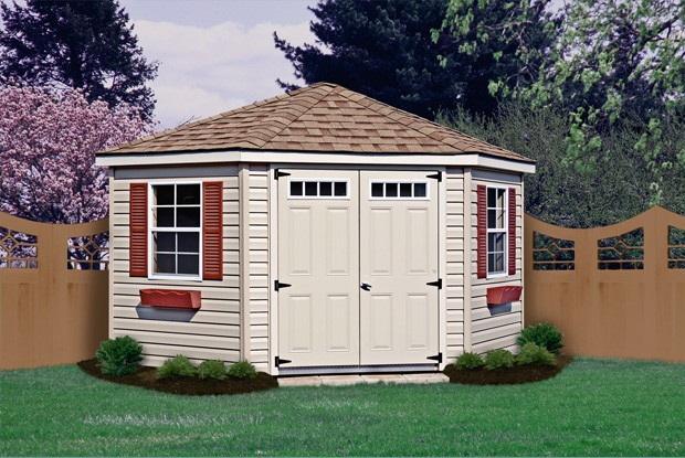 corner shed the corner nook shed KHNNEHS