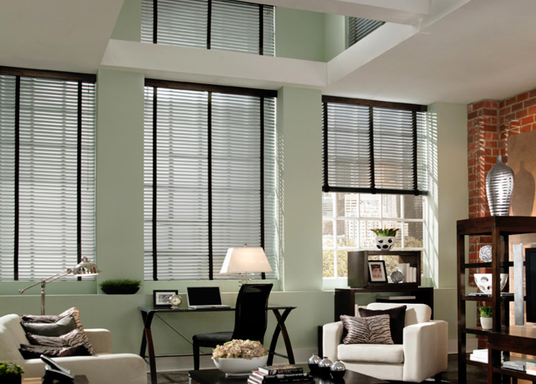dark brushed aluminum blinds NRBJNRT