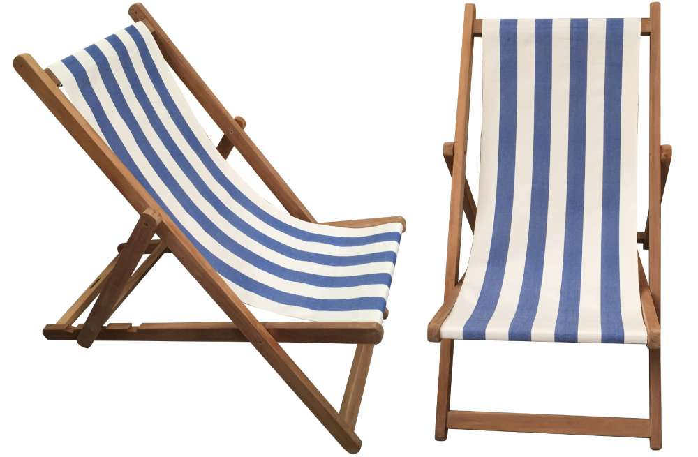 deck chairs blue u0026 white stripe deckchair - soccer stripe KFACDSC