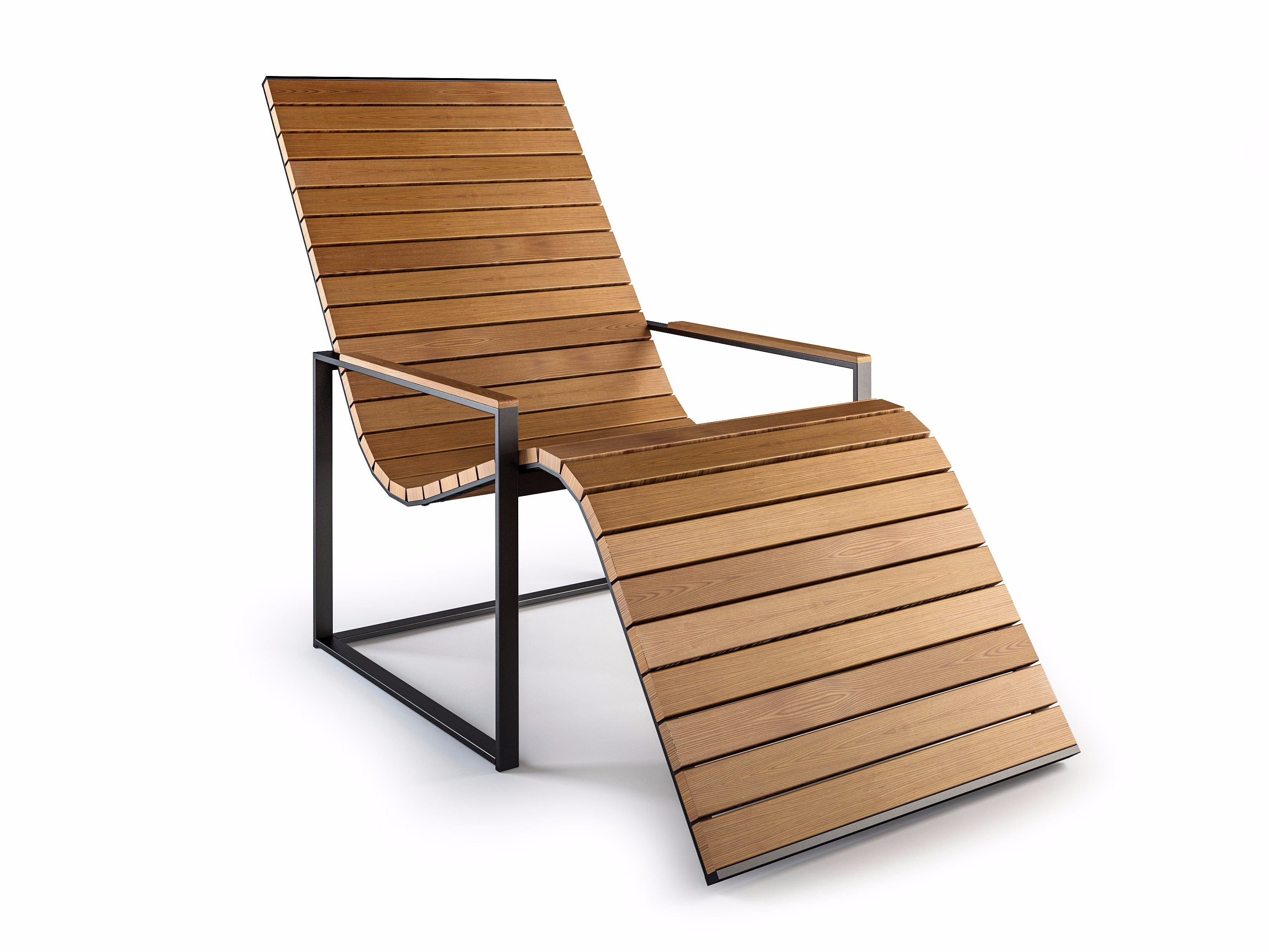 deck chairs wooden deck chair with armrests garden sun chair by röshults design brda -  broberg EXNWIOO