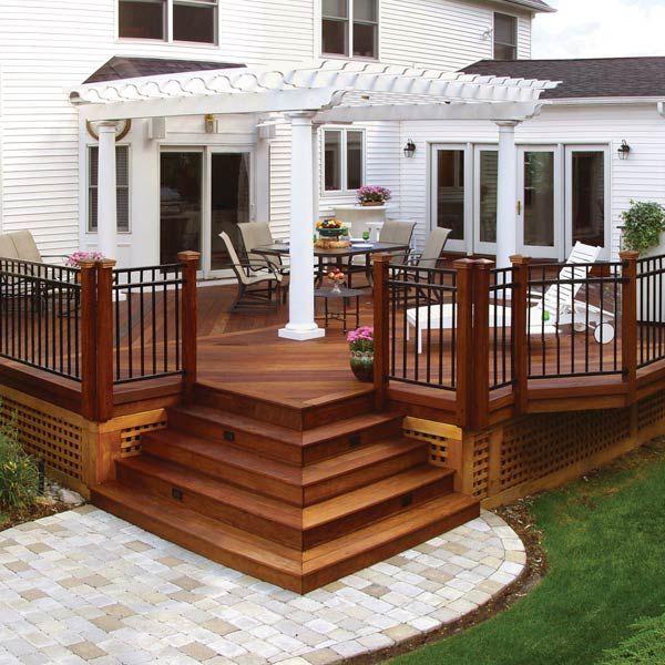 deck designs 20 beautiful wooden deck ideas for your home AZNHAFX
