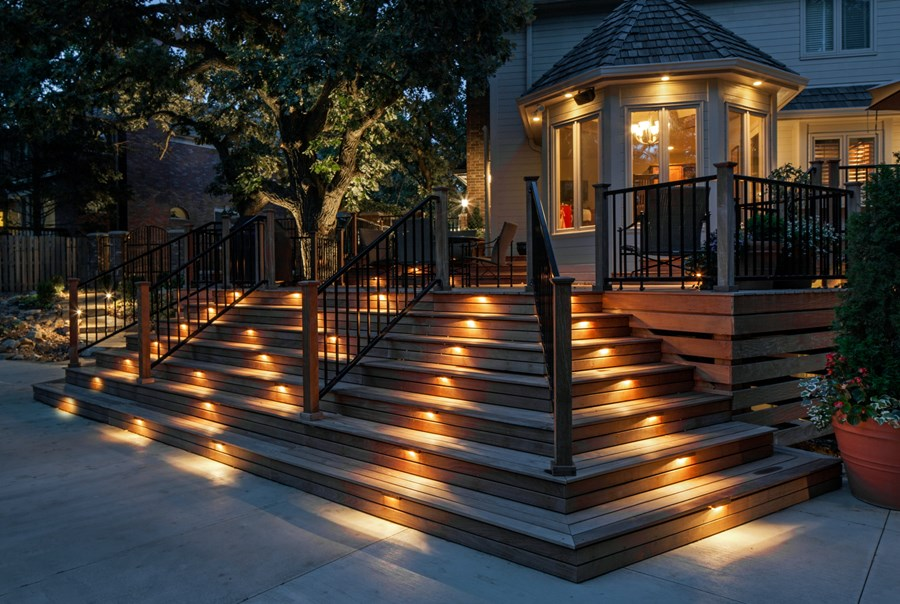Tips on outdoor deck lighting yonohomedesign deck lighting step lights mckay landscape lighting omaha ne aletffs workwithnaturefo