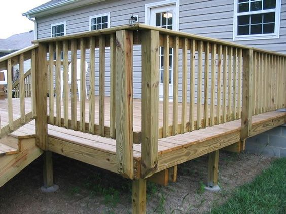 deck railing ideas deck with posts mounted on the outside TYGBMTM