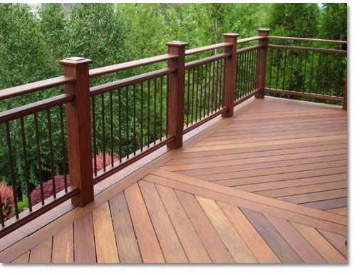 deck railing ideas find this pin and more on deck u0026 backyard landscaping. wrought iron deck  railing ELYYQJR
