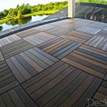 Easy to install deck tiles