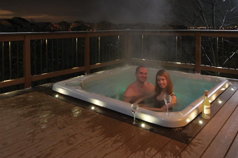 decking lights ... waterproof led recessed lights from dekor surround hot tub ... JOPXHZJ