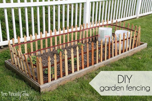 diy garden fencing IXJDVLT