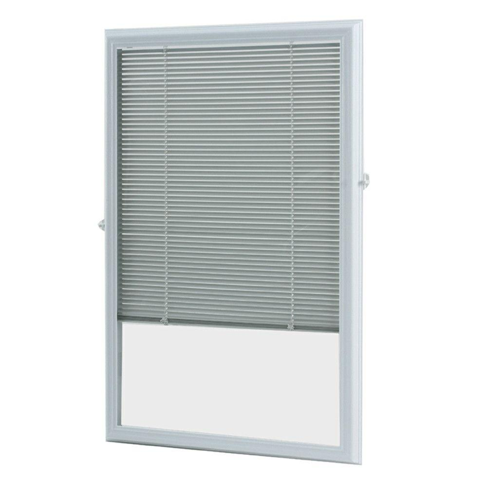 door blinds white cordless add on enclosed aluminum blinds with 1/2 in. slats, for XGNGWOZ