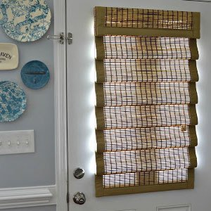 door blinds woven-wood-shades-for-front-door OUUIFAG