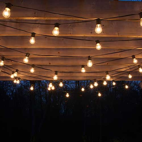 drape patio lights from pergolas #summer #diy VEYMCBX