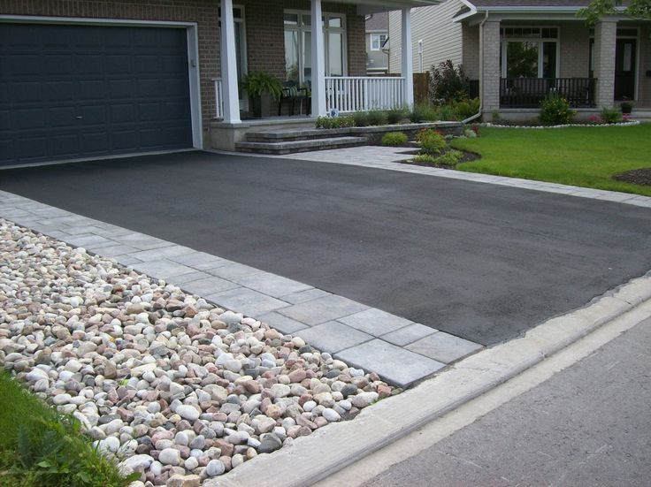 Driveway ideas different paving materials for Cement driveway ideas