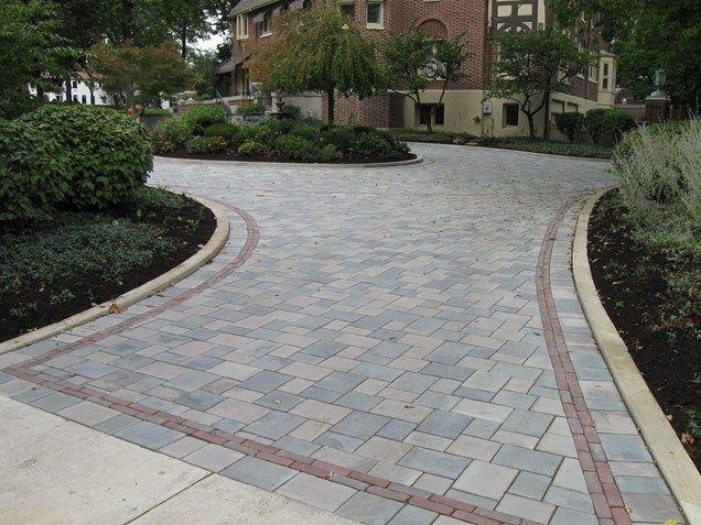 driveway pavers gray paver driveway, paver driveway border driveway the site group, inc.  new carlisle MLAPEDO