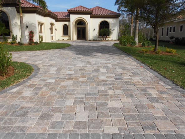 driveway pavers tremron stonehurst mahogany ash paver driveway XTCUYKP