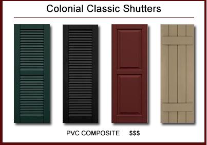 exterior shutters classic architectural™ premium lifetime pvc composite shutters · colonial  classic™ shutters QDZSOJK