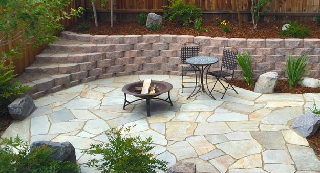 finished flagstone patio BEDFJEC