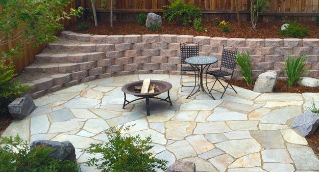 finished flagstone patio BEDFJEC