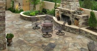 flagstone patio flagstone, patio, fireplace accent landscapes colorado springs, co WUGLNDV
