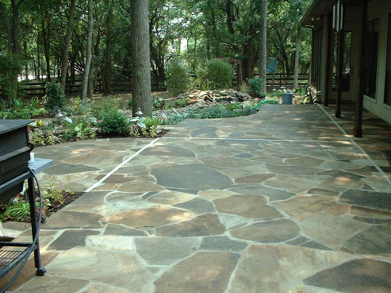 flagstone patio the best stone patio ideas SAPXETR