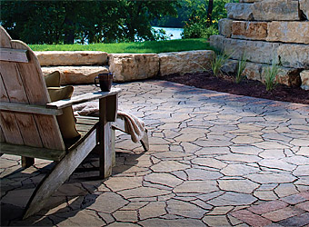 flagstone pavers ... textures and patterns that mimic actual flagstone. all of these  elements combine beautifully for a SPENXWL