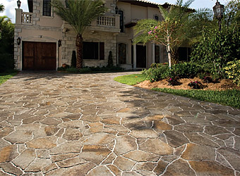 flagstone pavers ... textures and patterns that mimic actual flagstone. all of these  elements combine beautifully for a ZBPFIIQ